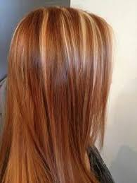 red and blonde highlight lowlight hair by kristine norris lob