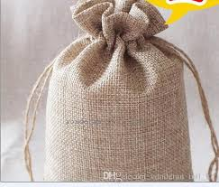 burlap favor bags 2017 7 9cm layer high quanlity linen drawstring