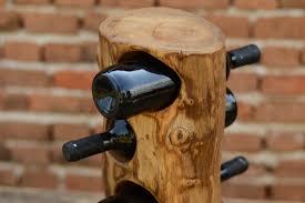 wooden wine rack 4 bottle wine rack trunk wine rack home decor