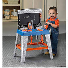 Boys Wooden Tool Bench Wooden Kids Workbench Toy Tool Pretend Play Set Work Tools Bench