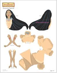 doll 3d paper doll template