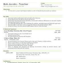 Sample Teacher Resume Indian Schools Nursery Teacher Resume Sample Teaching Resume Objective