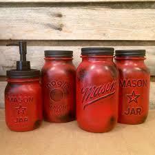 red kitchen canister set shop vintage kitchen canister sets on wanelo