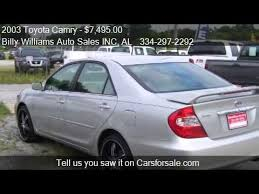 2003 toyota camry xle for sale 2003 toyota camry le v6 4dr sedan for sale in phenix city a