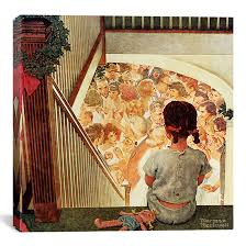 norman rockwell gallery wrapped canvas print