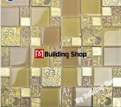 kitchen wall tile backsplash yellow gold glass mosaic kitchen wall tile backsplash rnmt080