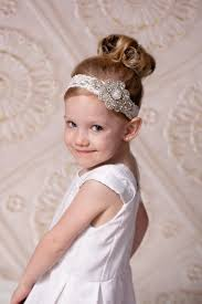 flower girl headbands lace and rhinestone headband bling headband rhinestone headband