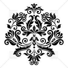black vintage floral design element royalty free vector clip