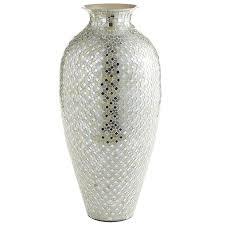 white vase white silver mosaic vases pier 1 imports