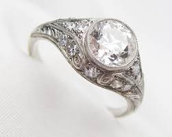 filigree engagement ring diamond filigree engagement ring deco diamond engagement ring