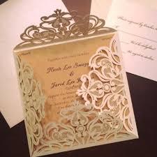 best online wedding invitations reviews graceful ivory shimmery laser cut wedding invitations ewws023 as