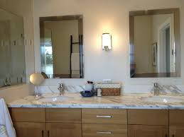 round bathroom mirror with wood frame vanity decoration