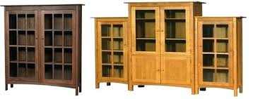 Solid Wood Bookcases With Glass Doors Wooden Bookcases With Doors Found Mission Oak Sold In Door