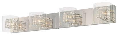 Contemporary Bathroom Vanity Lights by George Kovacs Lighting P5804 Jewel Box Collection Bath Vanity