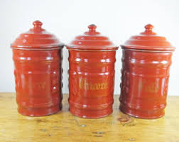 burgundy kitchen canisters kitchen canisters etsy