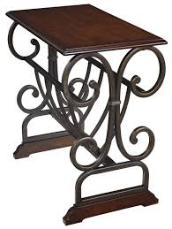 Power Chairside End Table Signature Design By Ashley Braunsen Traditional Chair Side End