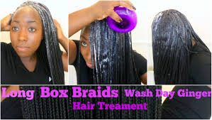 ideas for hairstyles for damaged edges box braids wash day routine reduce dirt or buildup ginger and oil