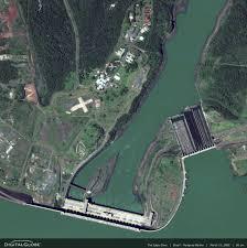 Parana River Map Itaipu Dam Parana River Brazil Paraguay Peta Citra Satelit