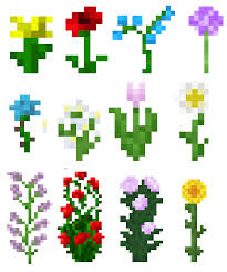minecraft flower names