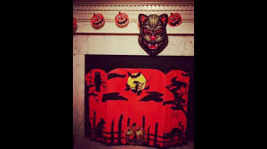 make your own full sized vintage halloween beistle fireplace