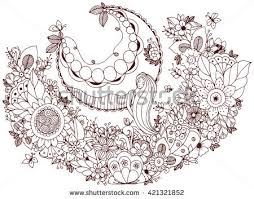 vector illustration zen tangle stock vector 421321852
