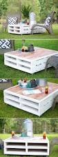 Home Decor Coffee Table Diy Pallet Coffee Table Gets An Outdoor Makeover Outdoor Pallet