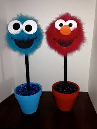 Elmo Centerpieces Ideas by Elmo Or Cookie Monster Centerpiece By Craftypartydecor On Etsy