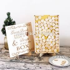 rustic wedding guest book wedding drop box wedding guest book alternative personalized