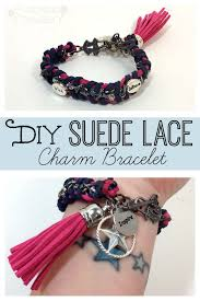 cord bracelet with charm images Diy suede lace charm bracelet plucking daisies jpg