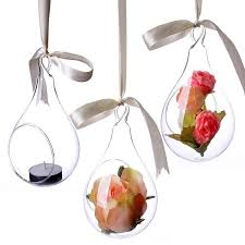 Glass Bowl Vases 1604 New Style Hanging Glass Vase Ceiling Drop Ball Water Shape
