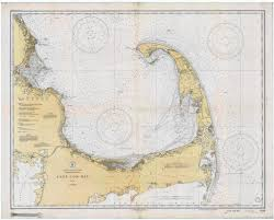 cape cod bay historical map 1933 u2013 nautical chart prints