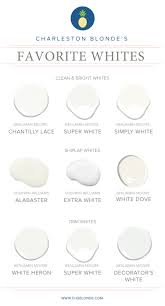 best white paint colors for walls favorite white interior paint colors charleston