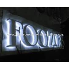 advertising outdoor face lit led channel letter global sources