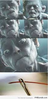 Gollum Memes - 27 funny gollum and the needle meme pmslweb