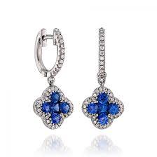 white gold dangle earrings gregg ruth 18k white gold dangle earrings with diamonds blue