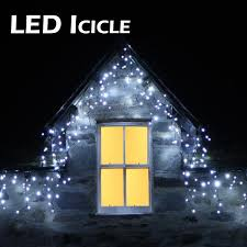 led icicle lights outdoor outdoor lights xmasdirect