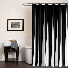 Black And White Striped Curtain Panels Curtain Black Stripe Cotton Curtain Panel Intended For Black And