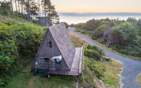 A Frame House For Sale Classic A Frame Beach Cabin Hits The Market In Oregon For 315k