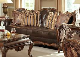 Sofa Leather Fabric Leather And Fabric Furniture X Mix Leather Sofa With Fabric Chairs