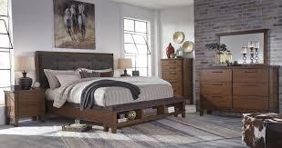 King Upholstered Platform Bed Dark Brown King Upholstered Storage Platform Bed