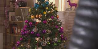 here u0027s your first look at hollyoaks u0027 christmas tree of doom which