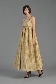 1960s metallic gold black dotted brocade pouf gown bustown modern
