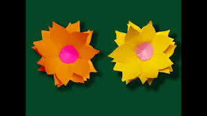 paper flower craft for kids hand made paper art youtube