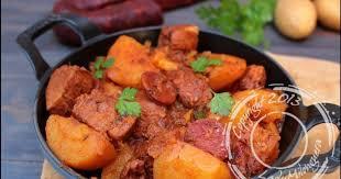 cuisiner sauté de porc sauté de porc au chorizo recette par ladymilonguera