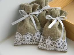 burlap wedding favor bags 10 burlap and lace project ideas my blessed weddings