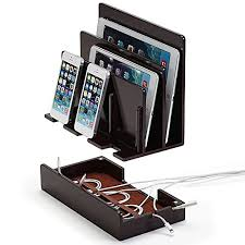 electronic charging station high gloss chevron multi device charging station and dock with usb