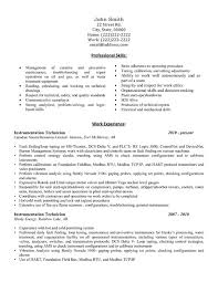 Technician Resume Examples by Click Here To Download This Instrumentation Technician Resume