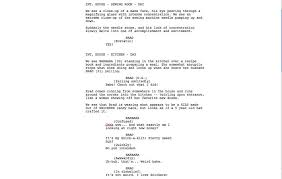 script example the godfather sample script page writing basics