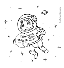 astronaut coloring page astronaut in the space coloring pages for kids printable free