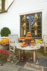 Front Porch Topiary Fall Decorating Ideas Southern Living